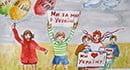 В Бердянске прошел конкурс социального рисунка