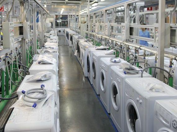 тестирование стиральных машин на заводе