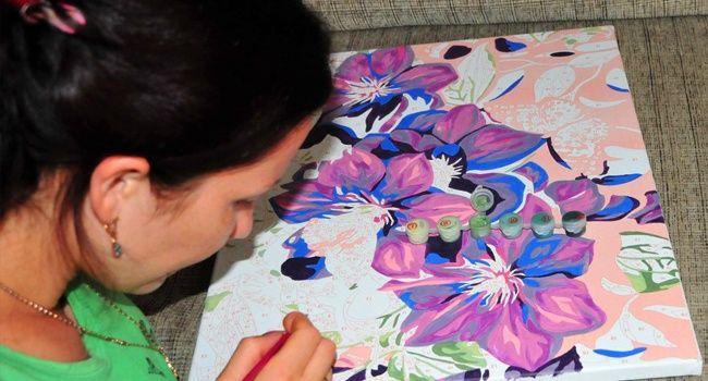 Картина своими руками раскрасить
