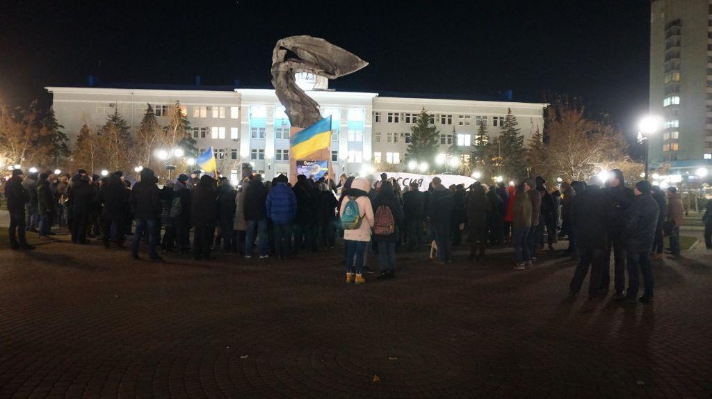На підтримку українських моряків бердянці й маріупольці провели спільну акцію