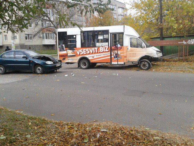 В Бердянске в результате ДТП с участием маршрутного такси пострадали два человека