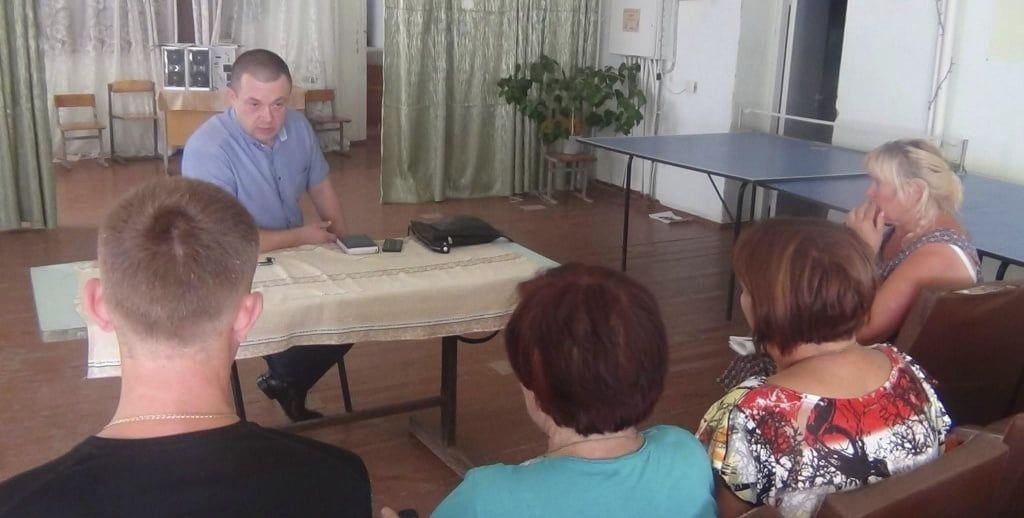 Начальник Бердянського відділу поліції Олег Фомічов зустрівся з жителями с. Софієвка, Андріївської селищної ради