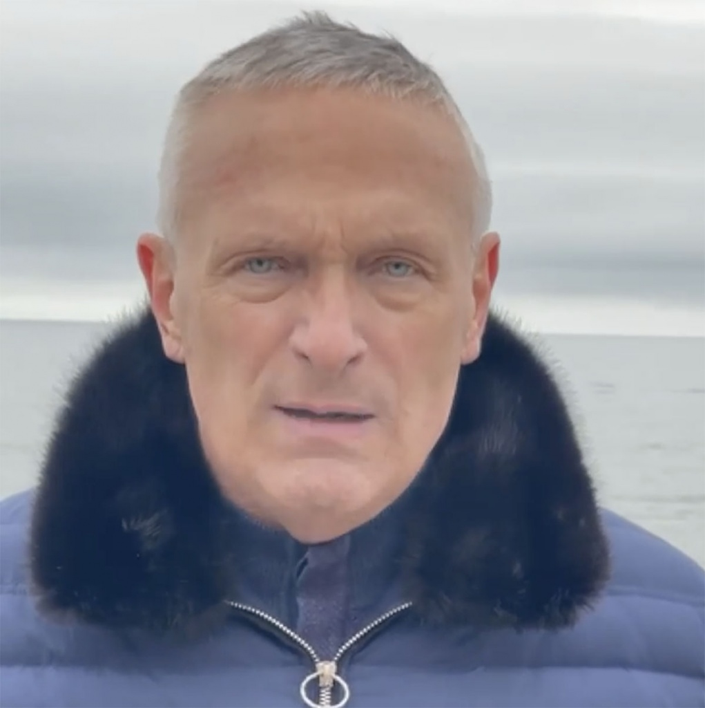 Валерий Баранов записал видеообращение к бердянцам
