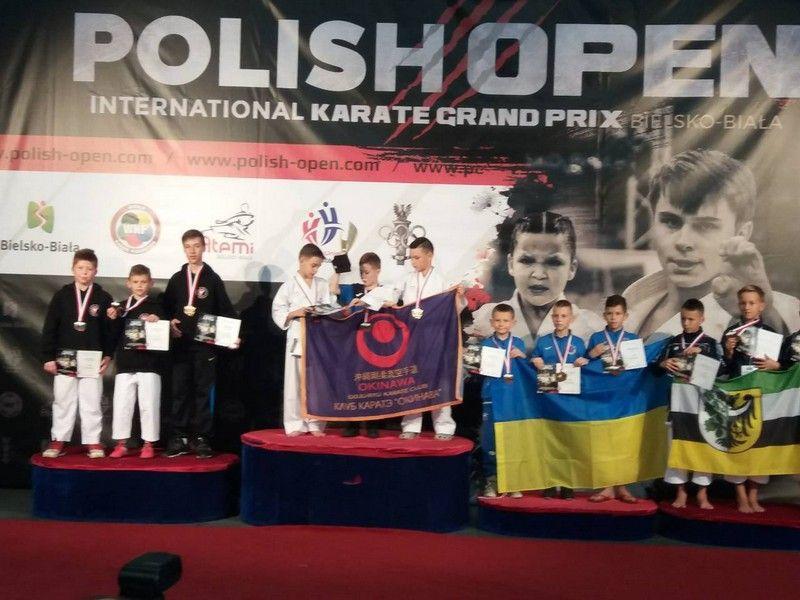 5 спортсменов соревновались на Международном турнире по карате Polish open