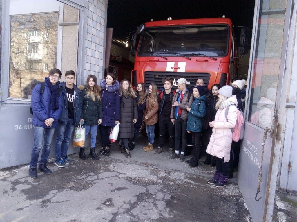 Учні 8-9-х класів ЗОШ №3 м. Бердянська відвідали пожежно-рятувальну частину