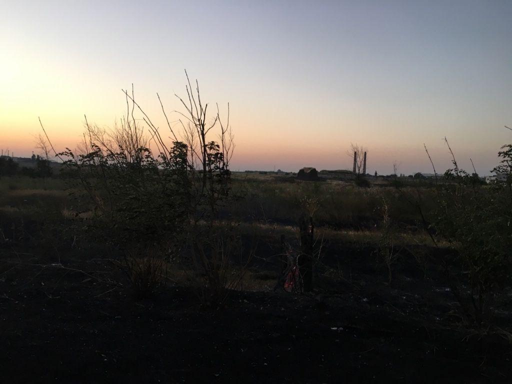 В Бердянске за день случилось два серьезных пожара на открытой территории
