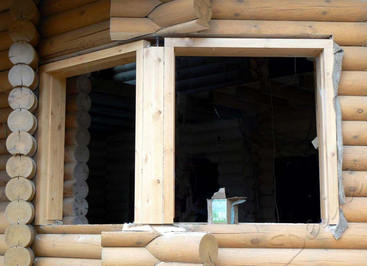 Окосячка в рубленном доме