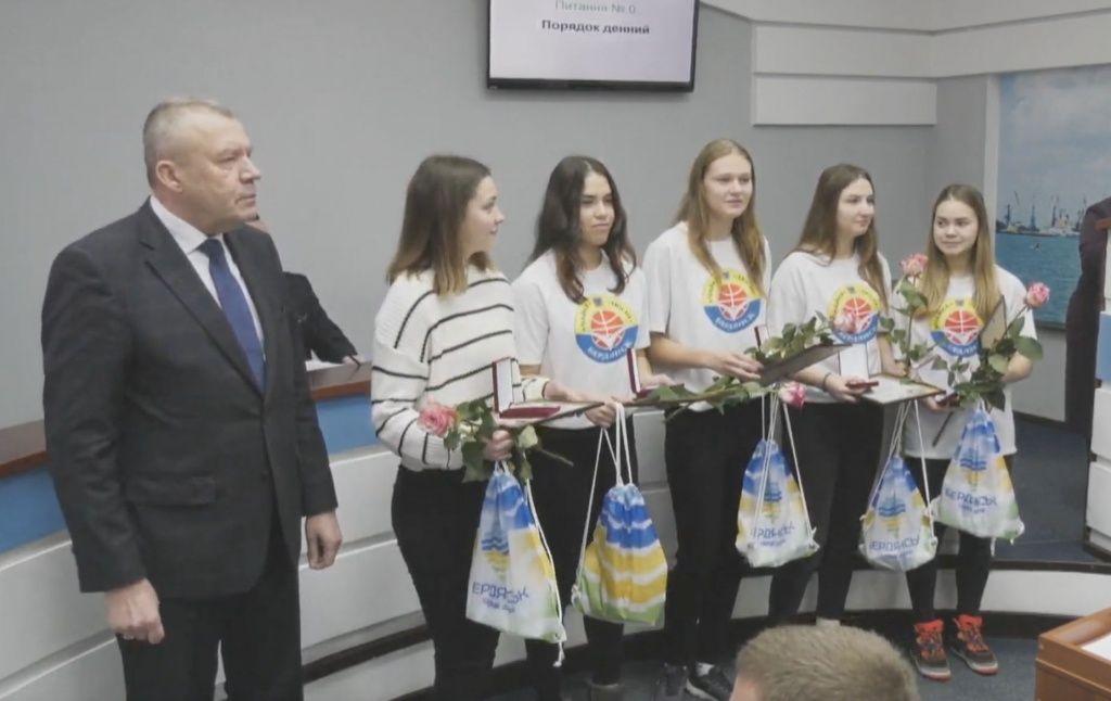 В мерії нагородили бердянських спортсменів