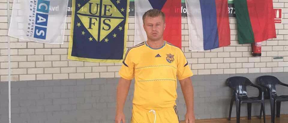 Бердянец Антон Лотарев выступает за сборную Украины на чемпионате мира по микрофутзалу