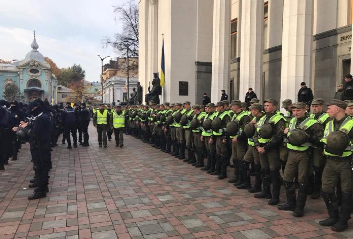 Аваков поручил снять охрану МВД митинга под Радой