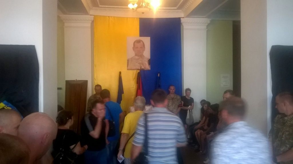 Бердянцы прощаются с Юрием Ковалем, погибшим в зоне АТО