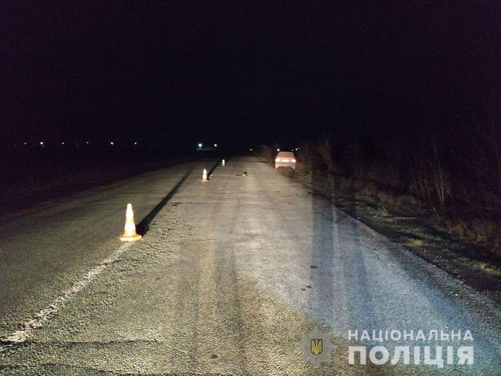 В Бердянському районі в результаті аварії загинув чоловік-пішохід