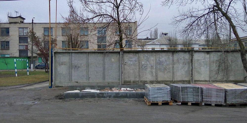 "Больше 1500 грн за квадрат ""под ключ"". Драгоценный тротуар возле ООШ №9"