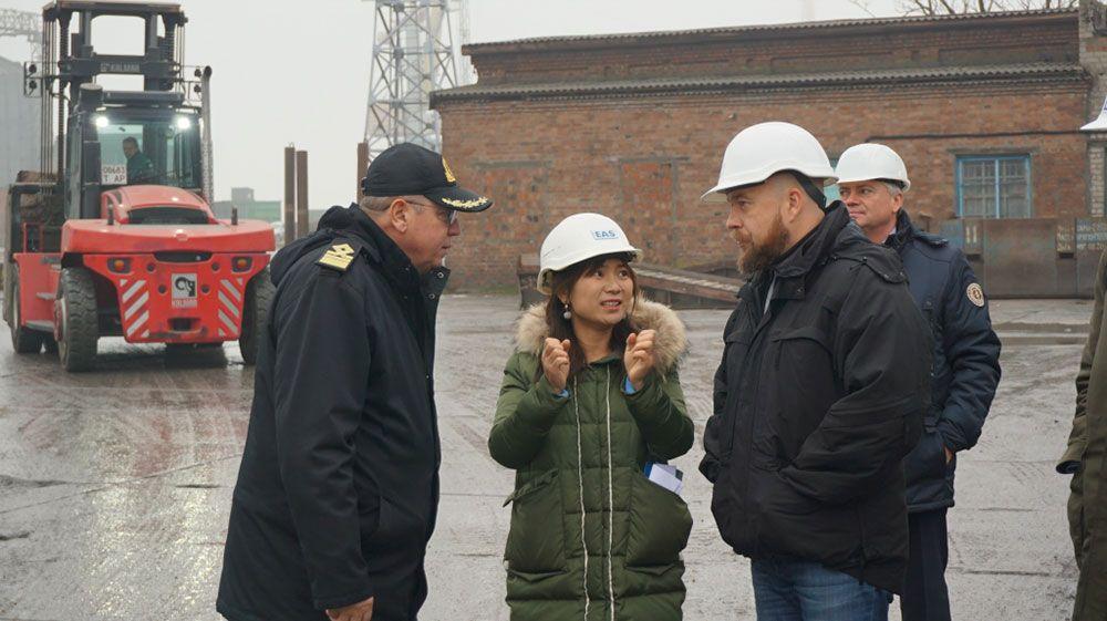 Бердянський порт відвідала делегація з Китаю