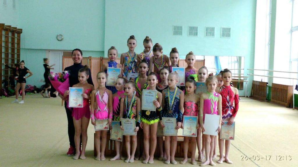 В ДЮСШ им. Назарова прошел чемпионат Бердянска по художественной гимнастике