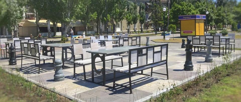 На Приморській площі відкрили шаховий майданчик