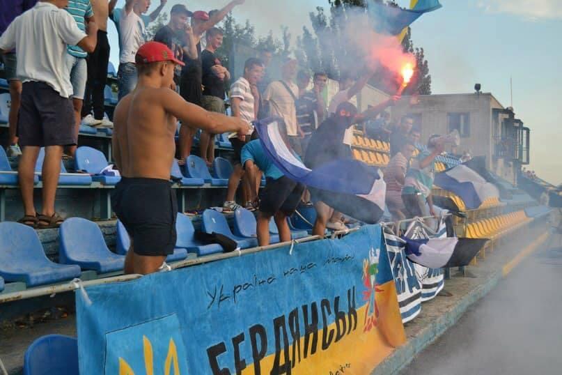 Футбольные фанаты сорвали первый же матч ФК «Бердянск» в новом сезоне