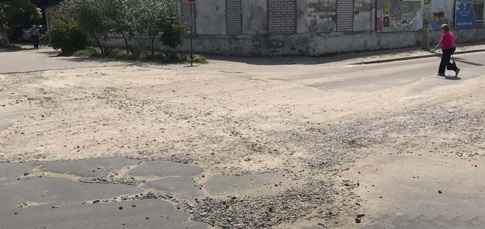 Худшая дорога Бердянска. Власти обещают ускорить начало ремонта асфальта по Западному проспекту