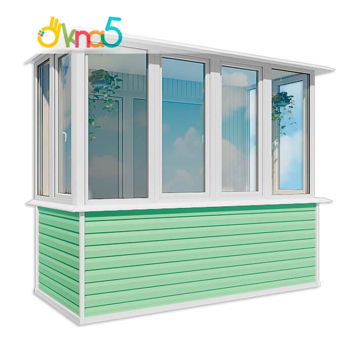 Застеклить балкон в киеве от компании окна 5 / цены/ акции.