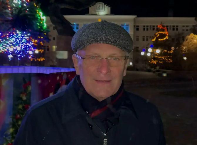 Видео - Валерий Баранов поздравил бердянцев с Новым годом