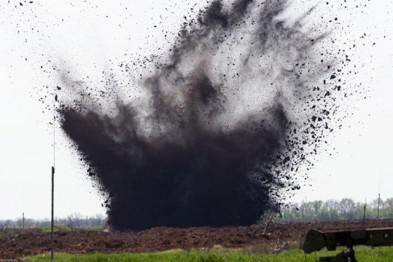 На окраине Мариуполя прогремел взрыв