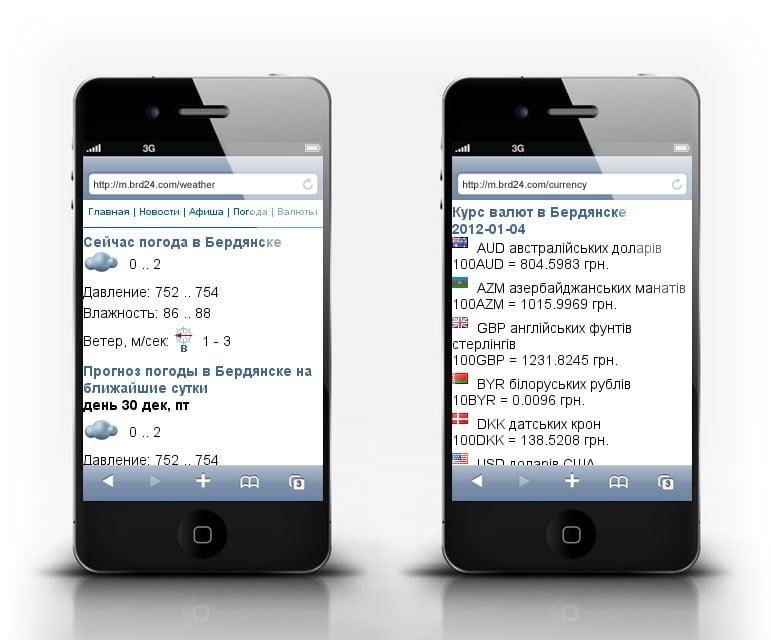 погода валюта на мобильном брд24