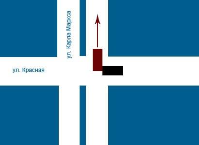 Сегодня, 10 ноября, примерно в 8:45 на перекрестке улиц Карла Маркса и Красная произошло ДТП.
